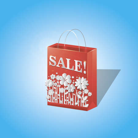 Illustration on the theme of the sale