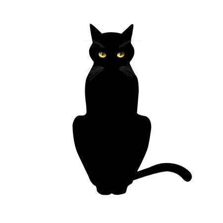 Illustration for Cat icon. Cat logo Logotype - Royalty Free Image