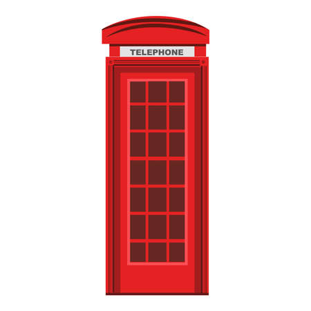 Illustration pour Picture of red phone booth on a background - image libre de droit