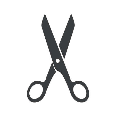 Illustration for scissors icon on a background - Royalty Free Image