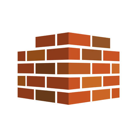 Illustration for Picture of a brick wall on a white background. - Royalty Free Image
