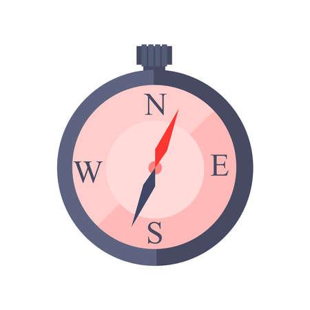 Illustration pour Compass logo on a white background. - image libre de droit
