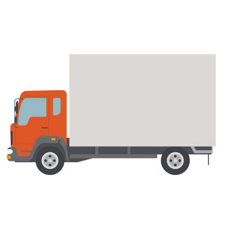 Illustration pour Picture of truck on a white background. Delivery of goods. - image libre de droit