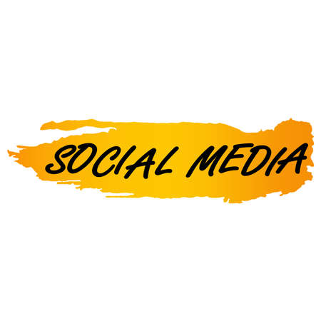 Illustration pour picture of social media on a white background. Vector illustration. - image libre de droit