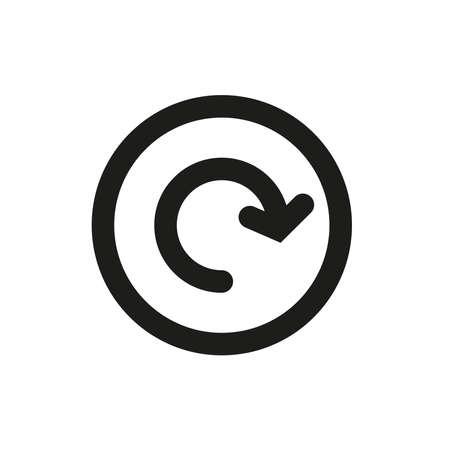 Illustration pour Arrow icon in a circle on a white background. - image libre de droit