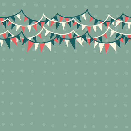 Illustration for horizontal flags in retro blue, white and red seamless pattern  - Royalty Free Image