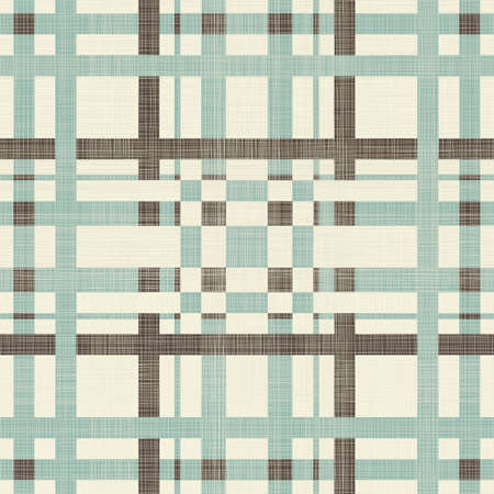 Retro Seamless Blue and Grey Plaid Wallpaper