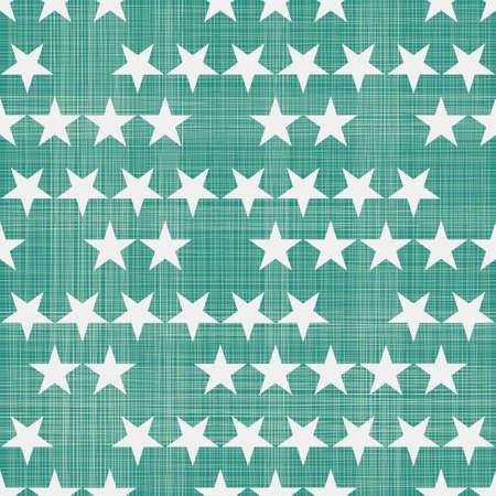 seamless stars pattern in retro faded green