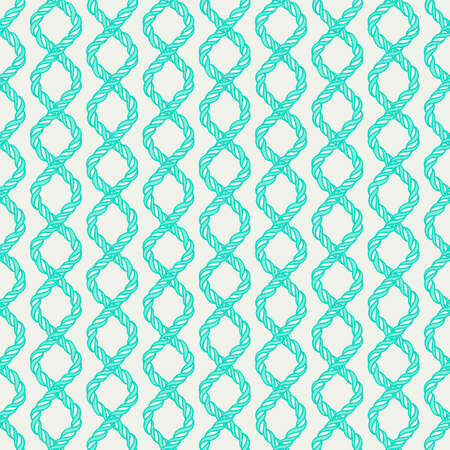 Decorative spiral rope seamless pattern  Endless illustration with