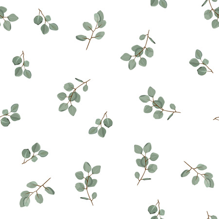 Illustration pour Floral seamless pattern. Plant texture for fabric, wrapping, wallpaper and paper. Decorative print. - image libre de droit