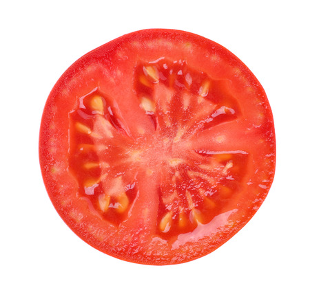 Photo pour tomato slice isolated on white background - image libre de droit