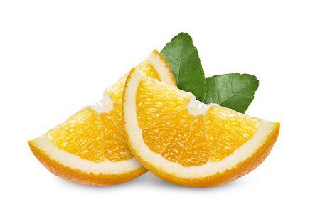 Photo for orange slice on white background - Royalty Free Image