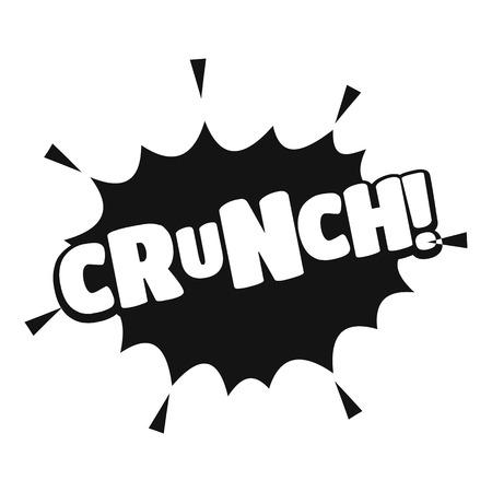 Illustration pour Comic boom crunch icon. Simple illustration of comic boom crunch vector icon for web - image libre de droit