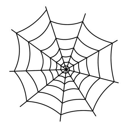 Illustration pour Insect cobweb icon. Outline illustration of insect cobweb vector icon for web - image libre de droit