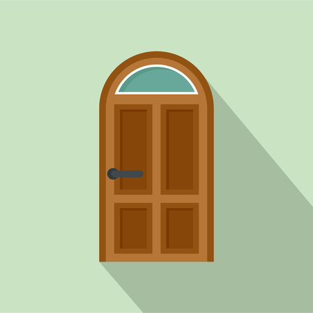 Security door icon. Flat illustration of security door vector icon for web design