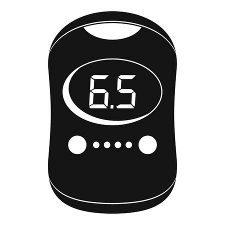 Modern glucose meter icon. Simple illustration of modern glucose meter vector icon for web design isolated on white background