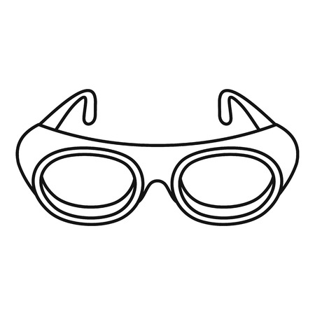 Welding glasses icon. Outline welding glasses vector icon for web design isolated on white background