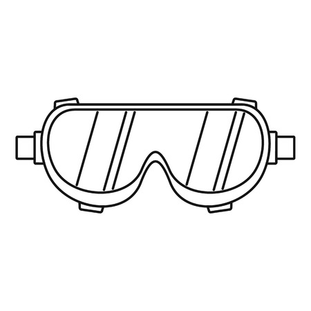 Welding worker glasses icon. Outline welding worker glasses vector icon for web design isolated on white background