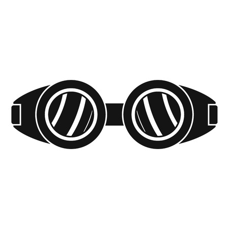 Welding glasses icon. Simple illustration of welding glasses vector icon for web design isolated on white background