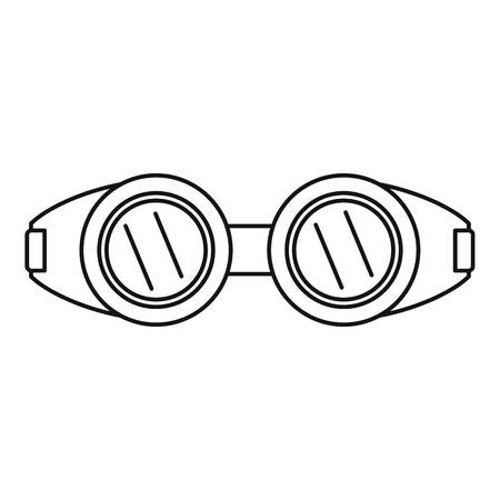 Welding glasses icon. Outline illustration of welding glasses vector icon for web design isolated on white background