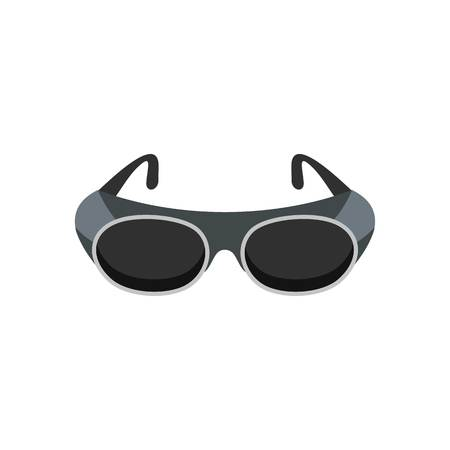 Welding glasses icon. Flat illustration of welding glasses vector icon for web isolated on white