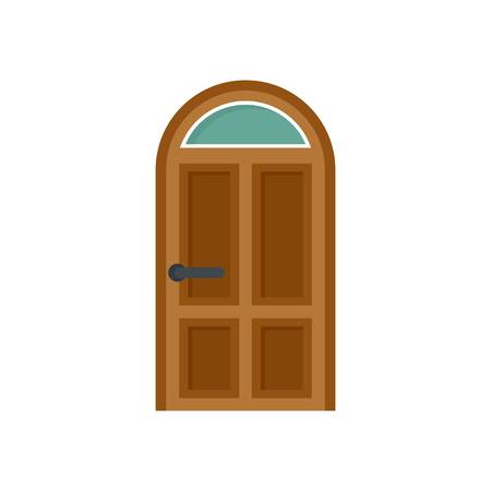 Security door icon. Flat illustration of security door vector icon for web isolated on white