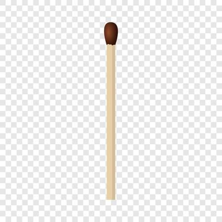Illustration pour Wood match mockup. Realistic illustration of wood match vector mockup for on transparent background - image libre de droit
