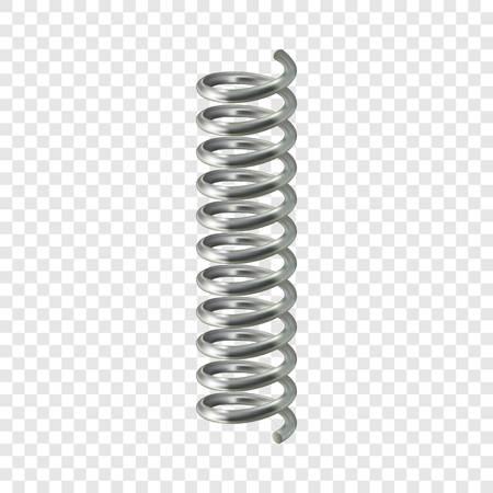 Ilustración de Spring cable mockup. Realistic illustration of spring cable vector mockup for on transparent background - Imagen libre de derechos