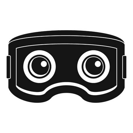 Vr glasses icon, simple style