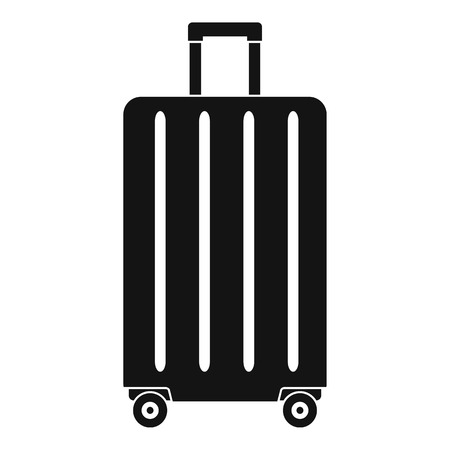 Illustration for Travel wheels bag icon. Simple illustration of travel wheels bag vector icon for web design isolated on white background - Royalty Free Image