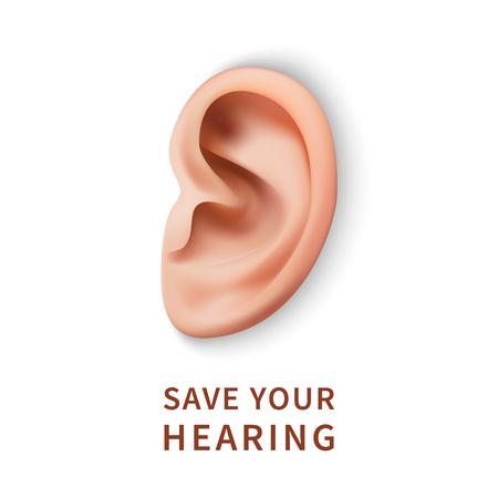 Illustration for International ear care day concept background. Realistic illustration of international ear care day vector concept background for web design - Royalty Free Image