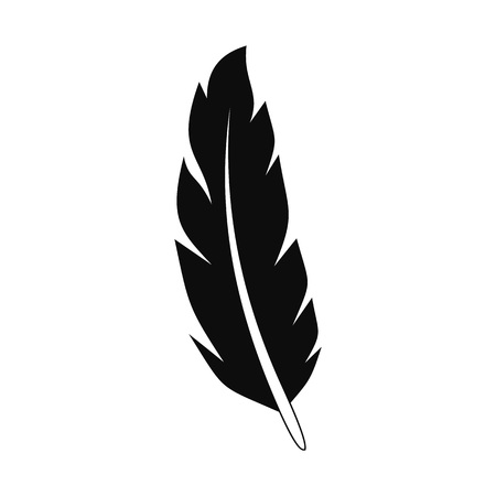 Illustration pour Peacock feather icon. Simple illustration of peacock feather vector icon for web design isolated on white background - image libre de droit