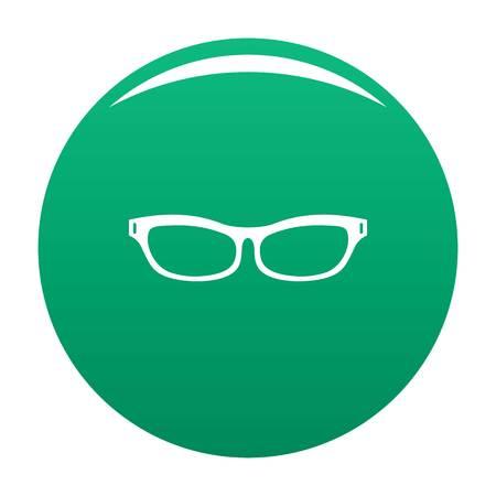 Care eyeglasses icon vector green