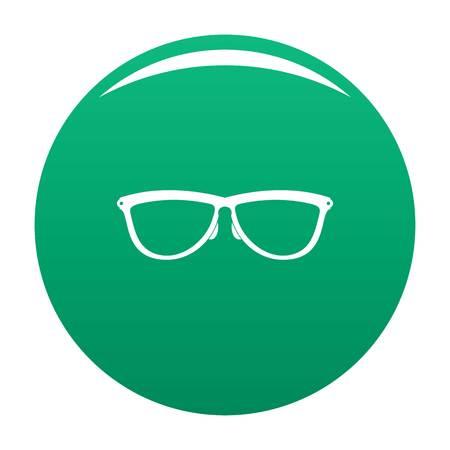 Stylish eyeglasses icon vector green