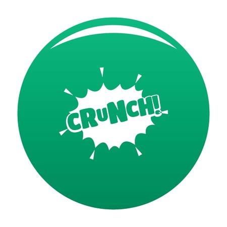 Illustration pour Comic boom crunch icon. Simple illustration of comic boom crunch vector icon for any design green - image libre de droit