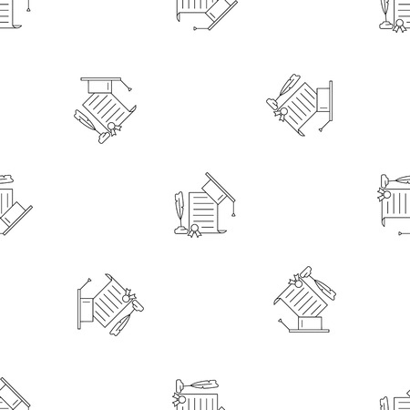 School diploma pattern seamless vector repeat geometric for any web design