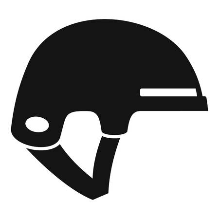 Ski helmet icon. Simple illustration of ski helmet vector icon for web design isolated on white background