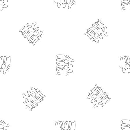 Spinal column discs pattern seamless