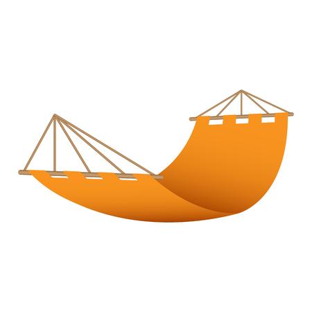 Illustration pour Beach hammock icon. Realistic illustration of beach hammock vector icon for web design - image libre de droit
