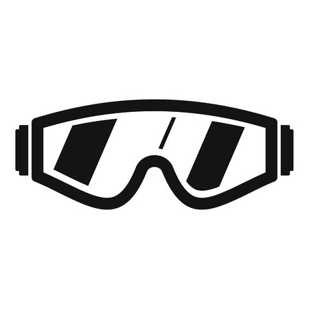 Safety glasses icon. Simple illustration of safety glasses vector icon for web design isolated on white background