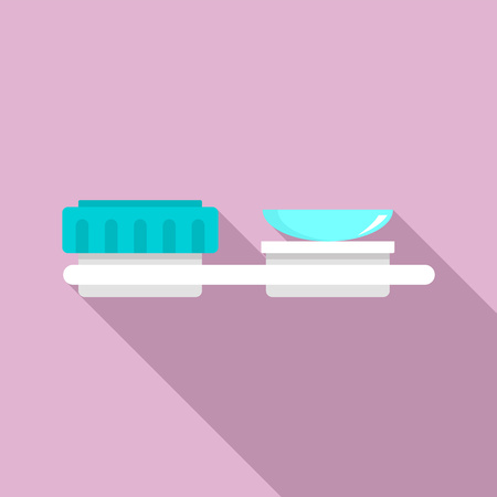 Contact len stand icon. Flat illustration of contact len stand vector icon for web design