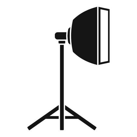 Studio light stand icon. Simple illustration of studio light stand vector icon for web design isolated on white background