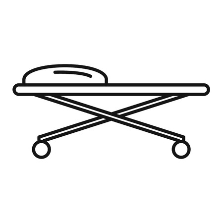 Illustration pour Forensic laboratory cart desk icon. Outline forensic laboratory cart desk vector icon for web design isolated on white background - image libre de droit