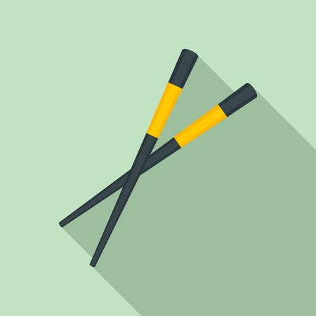 Sushi chopsticks icon, flat styleの素材 [FY310118550405]
