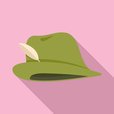 Hunter hat icon. Flat illustration of hunter hat vector icon for web design