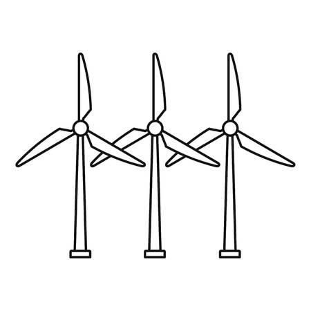 Illustration pour Development wind turbine icon, outline style - image libre de droit