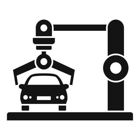 Illustration pour Robot car factory icon. Simple illustration of robot car factory vector icon for web design isolated on white background - image libre de droit