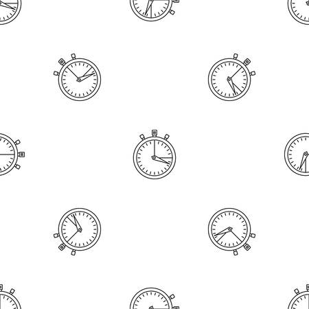 Photo for Stopwatch icon. Outline illustration of stopwatch icon for web design isolated on white background - Royalty Free Image