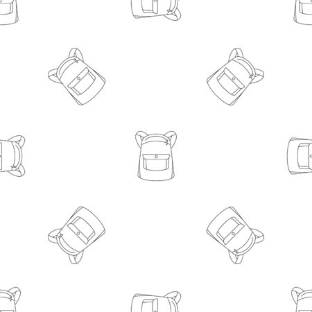 Emmo backpack pattern seamless repeat geometric for any web design