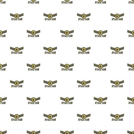Attack team pattern seamless, vector illustration